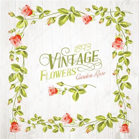 Marcos de flores vintage marco flores vintage Vector
