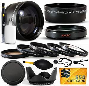 10 Piece Ultimate Lens Package For Fuji Finepix S7000 Digital Camera Includes .43x Wide Angle ...