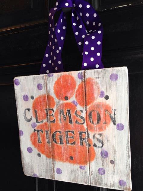clemson tigers diy projects images  pinterest