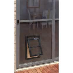pet screen door pillar products 202 x 254mm medium flyscreen pet door black