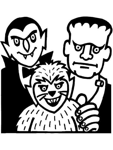 Printable Coloring Pages Halloween Monsters