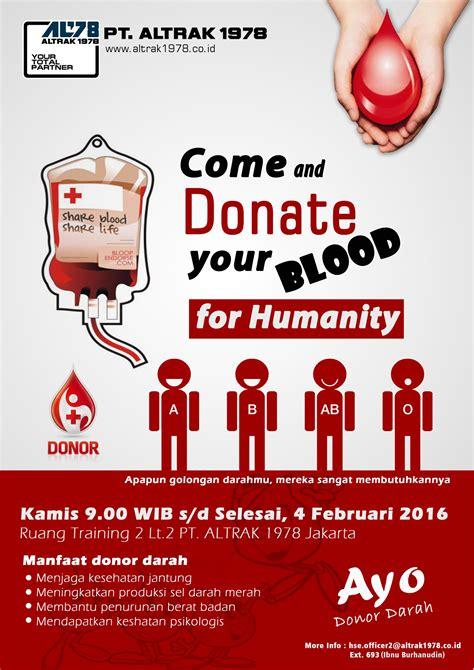 donor profile template company pamflet pamflet donor darah pt altrak 1978 pmi pt
