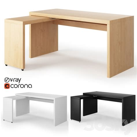 Create a custom desk for your office or a custom computer desk for your study. 3d models: Office furniture - Ikea Malm Desk with Pull-out ...