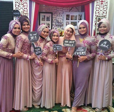 model kebaya seragam ungu trend  pernikahan acara