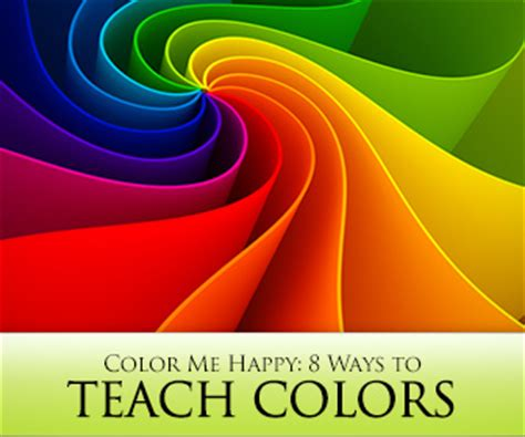 color  happy  ways  teach colors  english