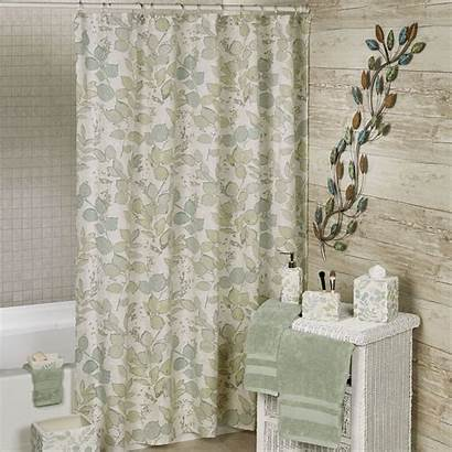 Shower Curtain Leaf Springtime Botanical Leaves Class