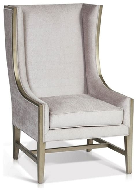 High Back Wing Arm Chair  Contemporary  Armchairs And
