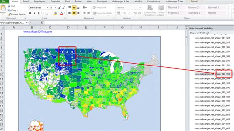 Usa Exle by Us Excel Map Add In Zip Code Postcode Map
