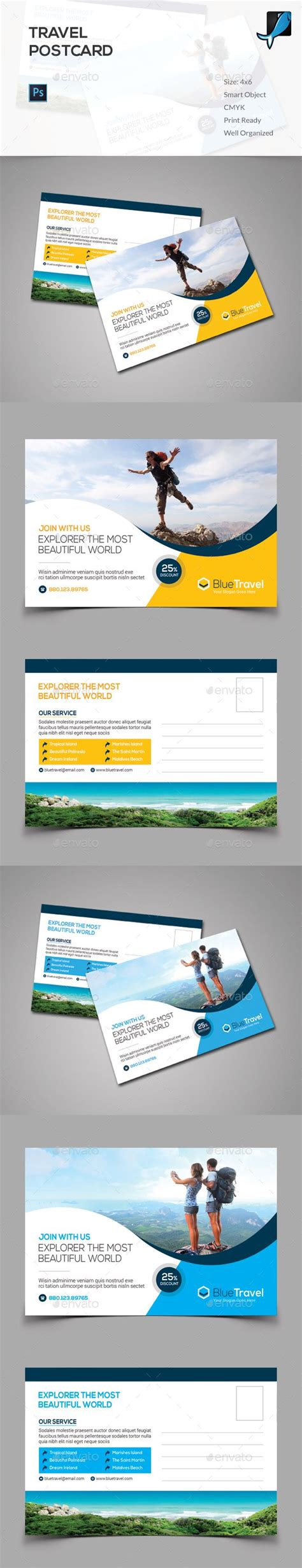 postcard template graphicriver pin by bashooka web graphic design on postcard design