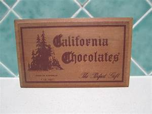Vintage Wooden California Chocolate Box 1950 U0026 39 S Made In