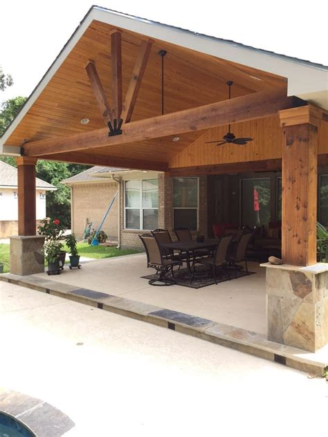 gable roof patio cover attached  existing house