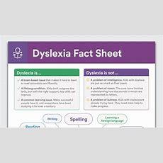 Dyslexia Fact Sheet