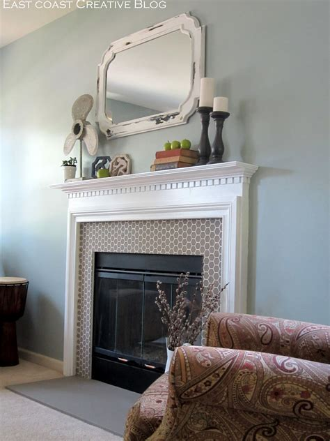 east coast fireplace stenciled faux tile fireplace tutorial east coast
