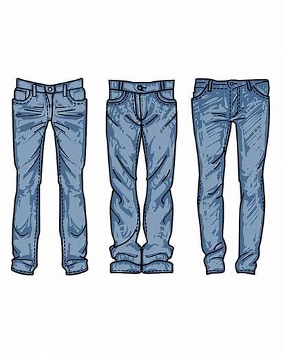 Drawn Hand Jeans Clipart Clip Vector Mens