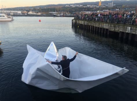Biggest Paper Boat In The World by Artist Sets Sail In Giant Paper Boat Ybw