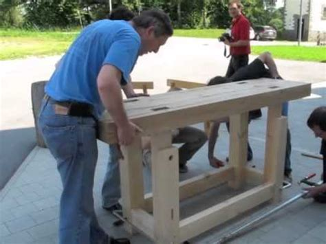 assembling  traditional workbench youtube