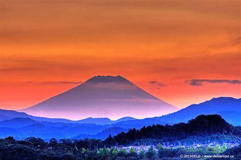 sunset  mount fuji deloprojet