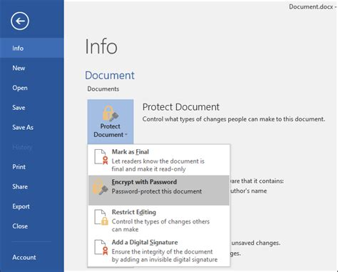 password protect documents  pdfs  microsoft