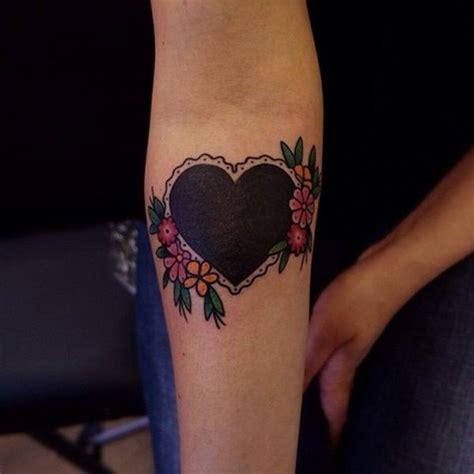black heart tattoos ideas  pinterest black