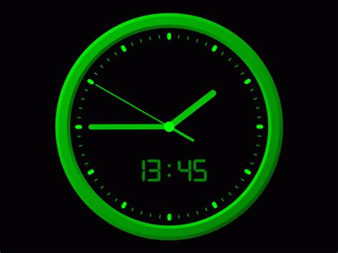 linux analog clock screensaver