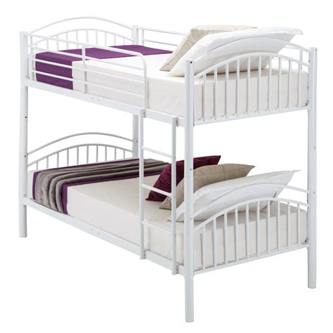 metal bunk beds modern 3ft single white metal bunk bed frame 2 person for