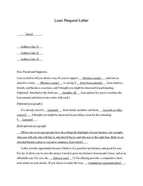 request letter format  bank  loan   write