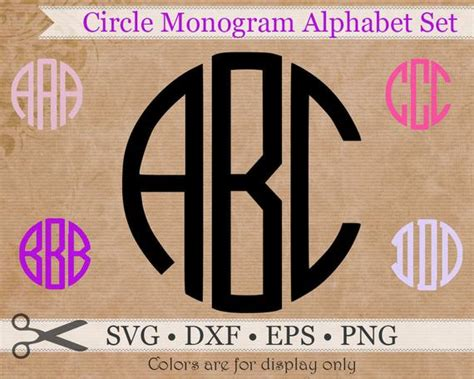 circle monogram svg eps dxf png files circle  digitaleffectsvg