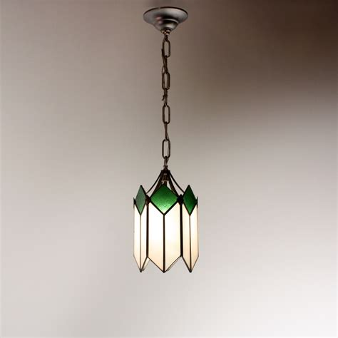 marvelous deco pendant light with original stained
