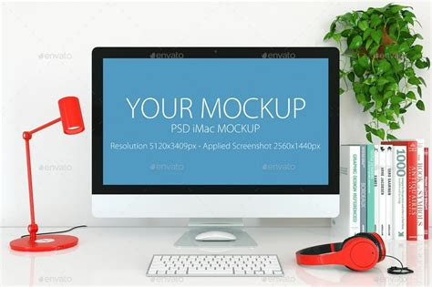 desktop computer mockup templates design shack