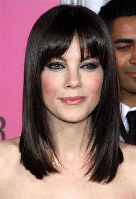 medium length hairstyles with long bangs hairstyle for