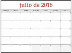julio de 2018 calendario gratis Calendario de