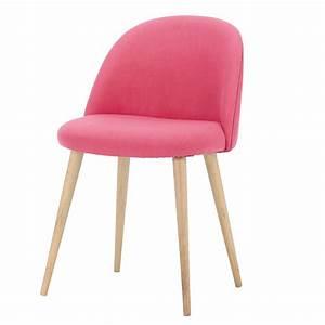 Chaise Vintage Maison Du Monde : chaise vintage en tissu et bouleau massif fuchsia ~ Melissatoandfro.com Idées de Décoration
