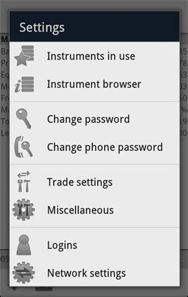 change password on android phone android trading app settings ifc markets