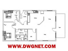 small single house plans single small house plan 04 dwg cad blocks and house plans