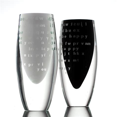 Unique Glass Vases by Unique Glass Vases Lost For Words By Batt I Boha