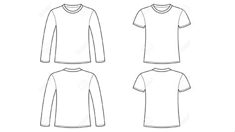 blank tshirt template clip art  long sleeve hd