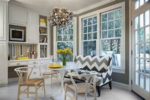 Chevron Sofa - Contemporary - Dining Room - Beckwith Interiors