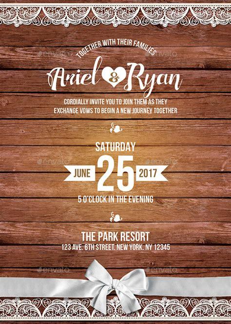 rustic invitation designs examples  publisher