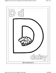 Letter D Coloring Pages Preschool Special Offers
