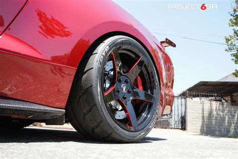 ruby red ford mustang gt   custom project gr