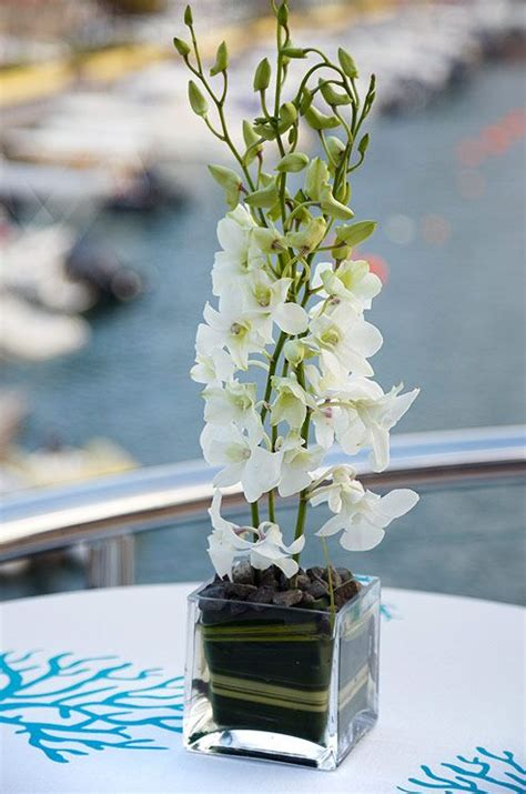 White Orchid Centerpiece Mix Buds Blooms