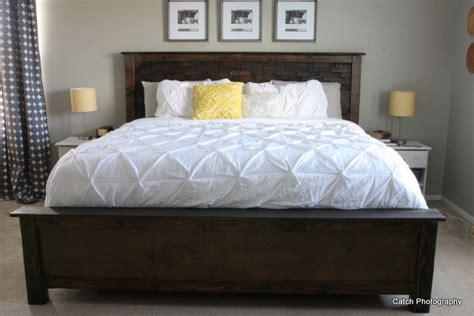 diy king bed frame white cassidy bed king diy projects Diy King Bed Frame