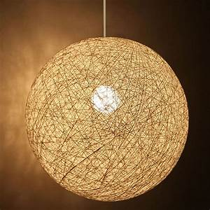 Cotemporary White Ball Shape Pendant Light Dining Room