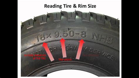 lawnmower tires   read  numbers   sidewall