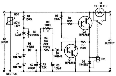 Inrush Current Limiter Circuit Diagram Electronictheory