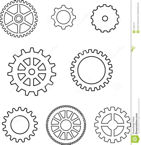 gear template gear template search gears clocks silhouettes vectors clipart svg