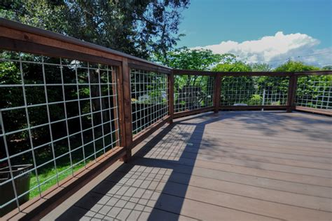 Hog Wire Railing Projects   Contemporary   Seattle   by Open Space Design Decks