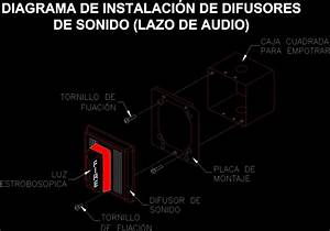 Extreme Sound Diffuser With Strobe Dwg Detail For Autocad