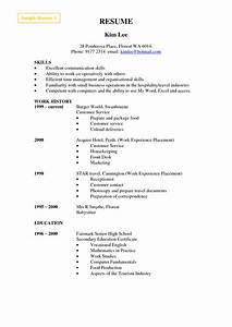 Resume Example Cashier Experience Cashier Resume Format Examples Http Www Jobresume