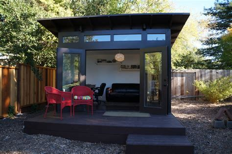 10x12 Studio Shed home office & family room   Modern